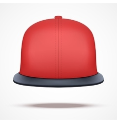 Layout of red rap cap vector