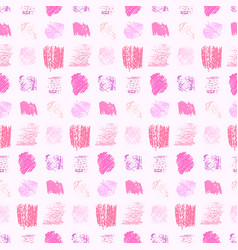light pastel pink colors grunge squares pattern vector image