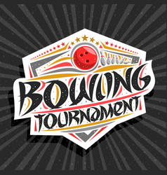 Logo for bowling tournament vector