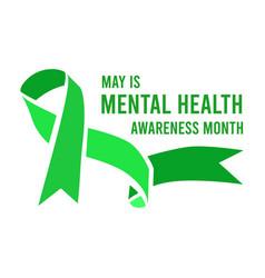 Mental health awareness month vector