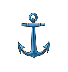 Metal sailing boat anchor cartoon vector