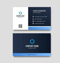 modern and minimalist business card vector image