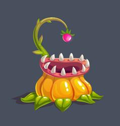 monster predator plant vector image