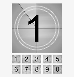 movie countdown frames set old film cinema timer vector image