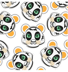 Mug of the panda pattern vector