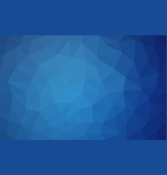 Navy blue low poly background abstract crystal vector