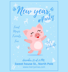 new year party poster vector image