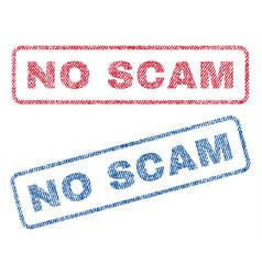 No scam textile stamps vector