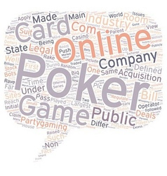 Online poker3 1 text background wordcloud concept vector