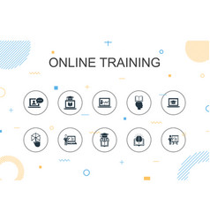 online training trendy infographic template thin vector image