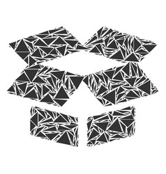 open box mosaic of triangles vector image