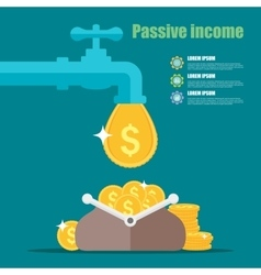 Passive income concept Cartoon vector