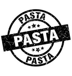 Pasta round grunge black stamp vector