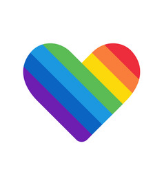 rainbow heart love symbol icon with colorful vector image