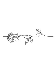 rose flower minimalistic tattoo design one vector image