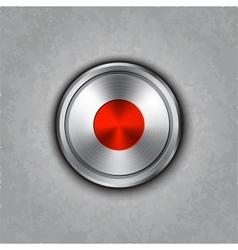 round metal record knob vector image