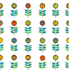 rows of flowers seamless vector image