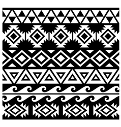 Seamless Tribal Pattern Design vector image