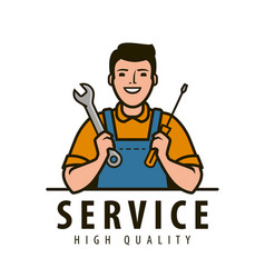 service maintenance logo technical specialist vector image