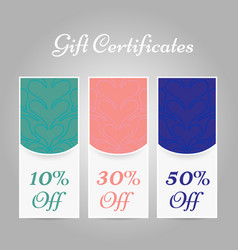 set of vintage arabic style gift certificates vector image