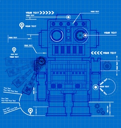 Sketch robot blueprint vector