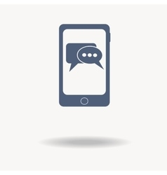 Smartphone phone with Speech bubbles inside icon vector