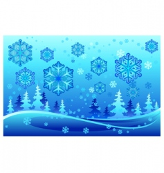 snow forest vector image