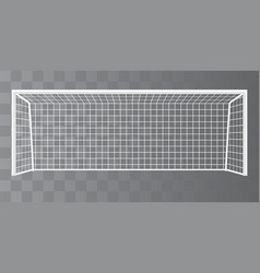 Soccer goalpost football goal on a transparent vector