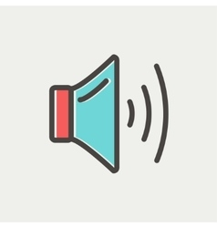 Speaker volume thin line icon vector image