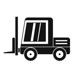 Stacker loader icon simple vector