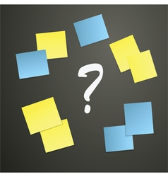 sticky notes with question mark vector image
