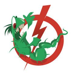 Stop parasites cartoon vector