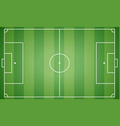 top view of football field textured soccer field vector image