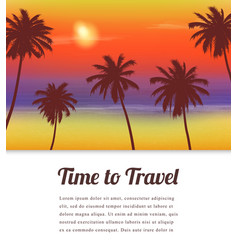 Travel background with exotic landscape vector