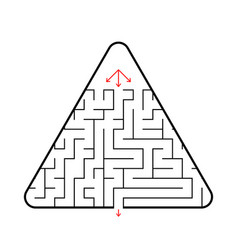 triangular maze with three paths find the right vector image