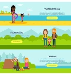 Vacation Flat Horizontal Banners vector image