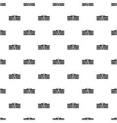 White house USA pattern simple style vector
