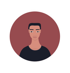 Young south east asian indian handsome man vector