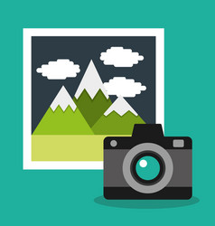 camera photo gallery album vacation vector image