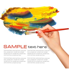 painting background vector image vector image