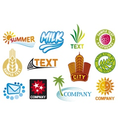 Set of corporate symbols vector image vector image