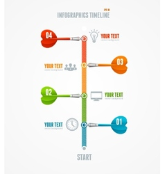 Timeline Infographic and dart arrow vector image