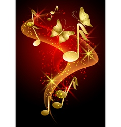 Decorative Musical Background vector image vector image