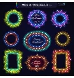 Magic Christmas Frames Set4 vector image vector image