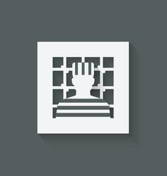 prisoner in jail justice symbol vector image