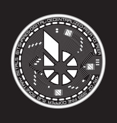 crypto currency bitshares black and white symbol vector image vector image