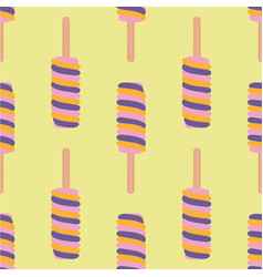 ice cream colorful seamless pattern vector image