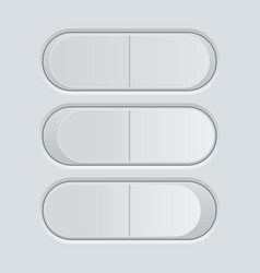 switch button blank gray pushing button vector image vector image