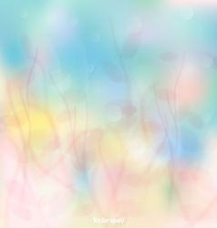 Abstract colorful floral flow background vector image