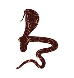 cobra snake reptile color silhouette animal vector image